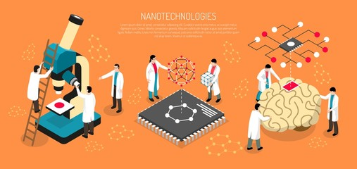 Nano Technologies Horizontal Illustration