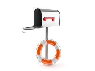 Open mailbox with buoy