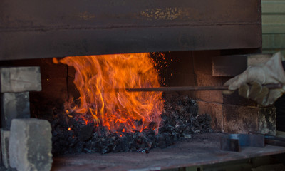 A little coal, a little fire and a lot of heat makes for a good metal forging experience.