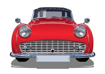 Recess Fitting Vintage cars Vector retro car