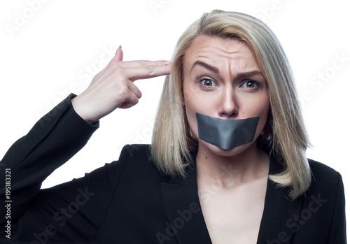 Девушки с заклеенным ртом фото онлайн русское порно