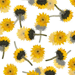 Beautiful floral background with sunflower