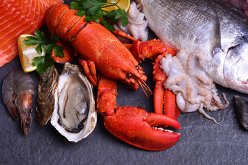 Poster Coquillage The freshest seafood for every taste
