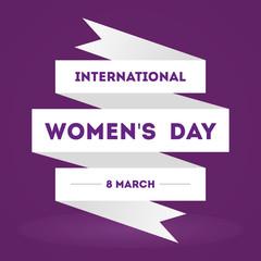International Women's Day. 8 March. Flat design, vector illustration