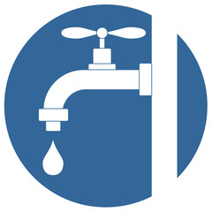 Simple illustration of water tap vector icon for web vector eps 10