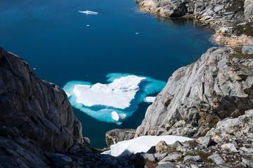 Eisscholle an der Grönländischen Küste