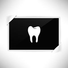 Foto Rahmen Querformat - Zahn