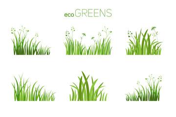 Eco icon grass