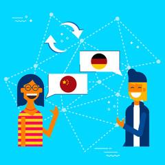 Friends translating chinese to german language