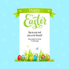 Blue Template Easter illustration
