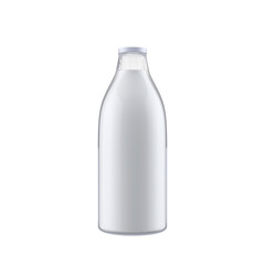 Milk bottle isolated on white