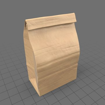 Closed paper grocery bag (large)