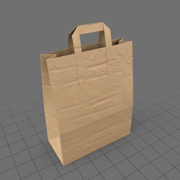 Paper grocery bag with handles