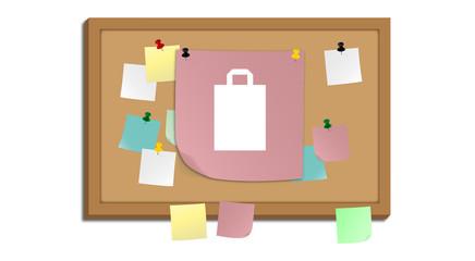 Pinnwand - Papiertüte