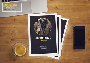 Resume Layout with Dark Gray Sidebar 1