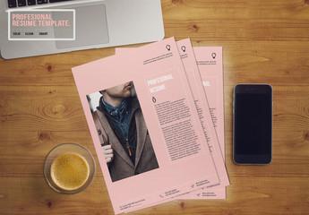 Pink Resume Layout 1