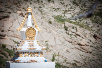 Buddhist stupa in Mongolia