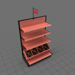 Shelves for a retail space