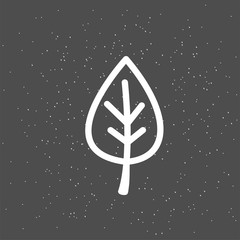 White leaves on a dark backgroundю Healthy diet and lifestyle vegan symbol. Organic hand sketch badge, icon. Logo for vegetarian restaurant menu, cafe, farm market