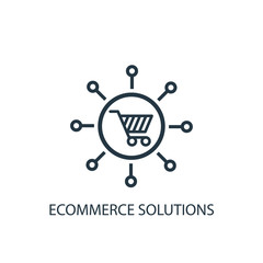 eCommerce solutions icon. Logo element illustration