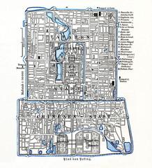 Plan of Beijing, China, ca. 1890 (from Meyers Lexikon, 1896, 13/625)