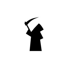 black silhouette of a man with a hood icon
