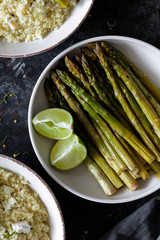 Mediterranean asparagus couscous salad
