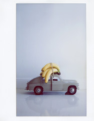 Vintage car toy with bananas
