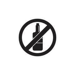 no alcohol, prohibited sign icon