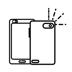 line smartphone technology in front and rear style