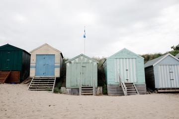 little huts on the beach