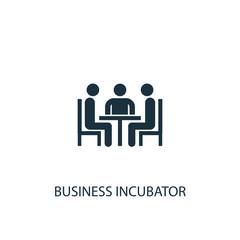 Business incubator icon. Simple element illustration