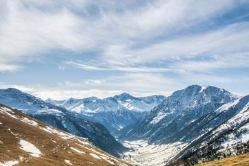 Snowy Caucasian mountains