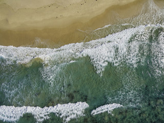 Aerial view southern beaches of New South Sales  Australia