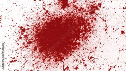 Blood splatter on wall