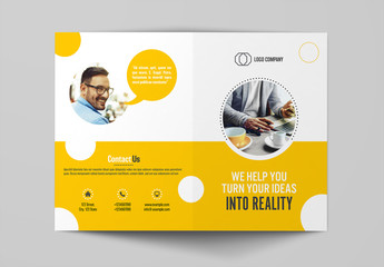 Brochure Layout Layout with Yellow Accents 1