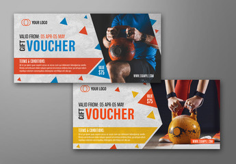 Gym Voucher Layout 3