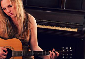 Female Guitar Player