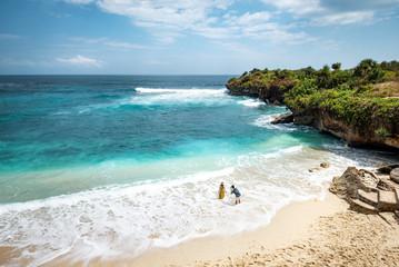 Dream Beach on Nusa Lembongan, Bali, Indonesa.