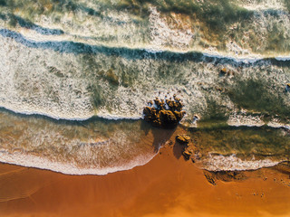 Aerial pictures of Atlantic sea in Costa Vicentina