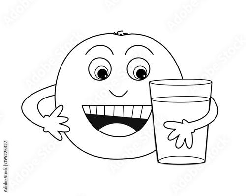 Ausmalbilder Essen Und Trinken Mit Gesicht
