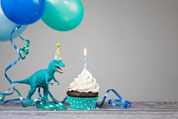 Blue Dinosaur Birthday Party