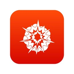 Fire explosion icon digital red