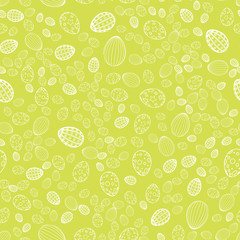 Seamless Easter background with eggs . Vector.