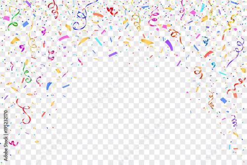Quot Festive Design Border Of Colorful Bright Confetti