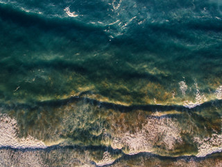 Aerial pictures of Atlantic sea in Costa Vicentina