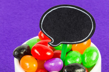 Jelly Beans with speech bubble