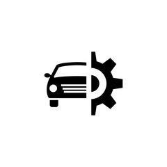 Car Service vector icon. Simple flat symbol on white background