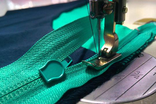 sewing equipment, zipper sewing operation