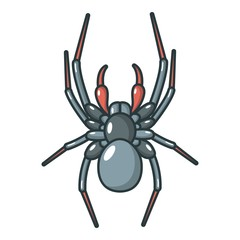 Spider icon, cartoon style